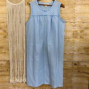 Vintage Sleeveless Checkered House Dress